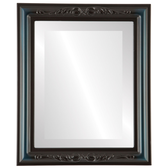 Beveled Mirror - Florence Rectangle Frame - Royal Blue