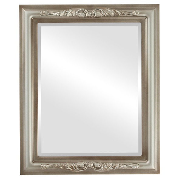 Beveled Mirror - Florence Rectangle Frame - Silver Shade