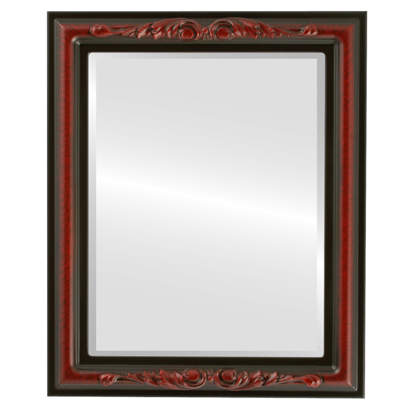 Beveled Mirror - Florence Rectangle Frame - Vintage Cherry
