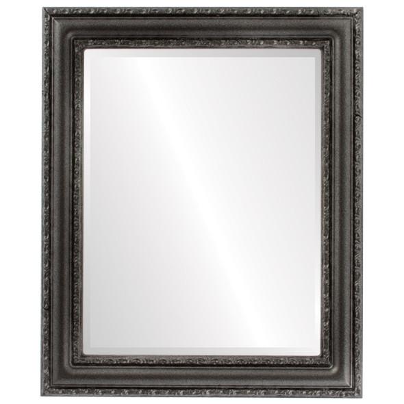 Beveled Mirror - Dorset Rectangle Frame - Black Silver