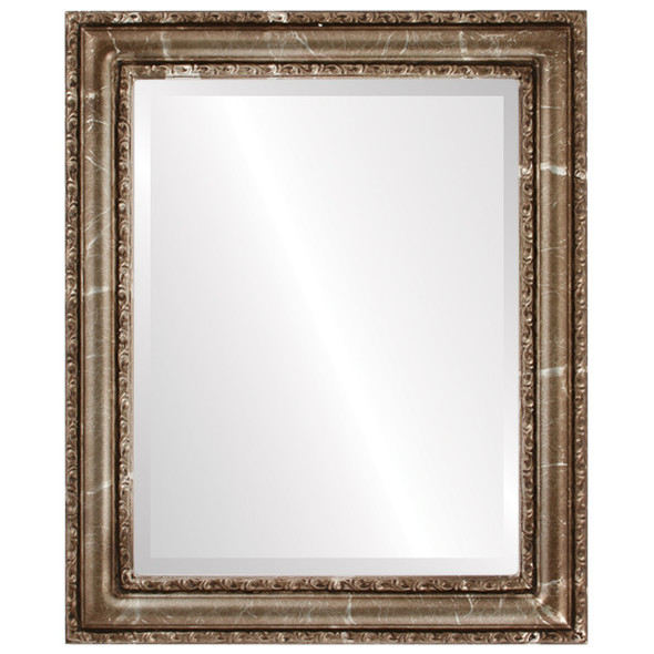 Beveled Mirror - Dorset Rectangle Frame - Champagne Silver