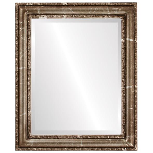 Beveled Mirror - Dorset Rectangle Frame - Champagne Silver