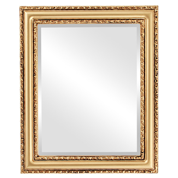 Beveled Mirror - Dorset Rectangle Frame - Desert Gold