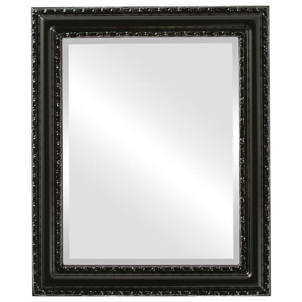 Beveled Mirror - Dorset Rectangle Frame - Gloss Black