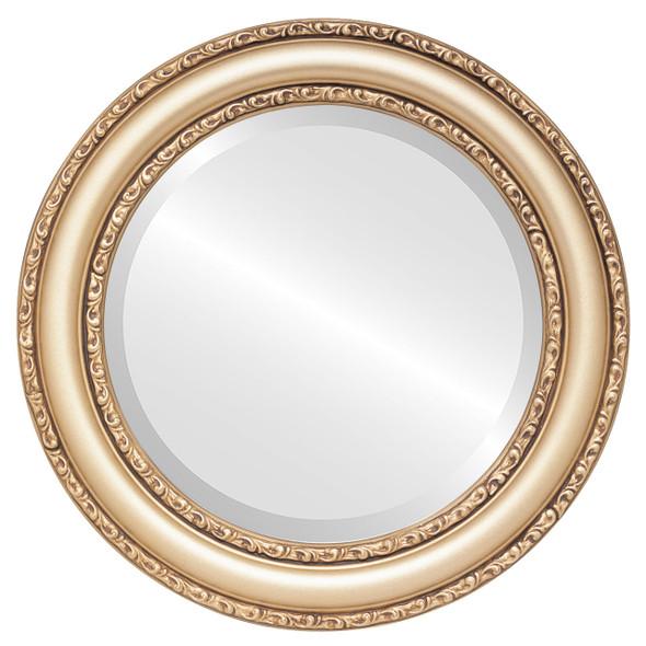Beveled Mirror - Dorset Round Frame - Gold Spray