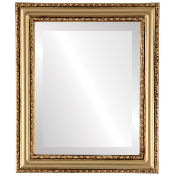 Beveled Mirror - Dorset Rectangle Frame - Gold Spray