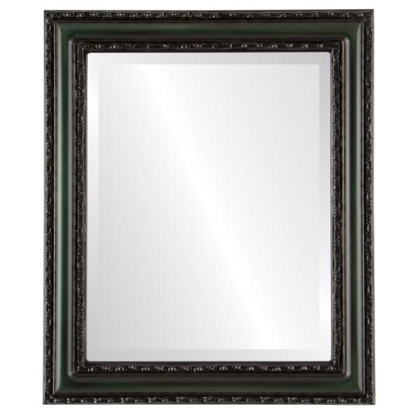 Beveled Mirror - Dorset Rectangle Frame - Hunter Green