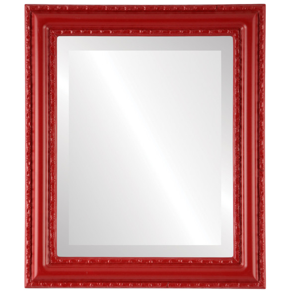 Beveled Mirror - Dorset Rectangle Frame - Holiday Red