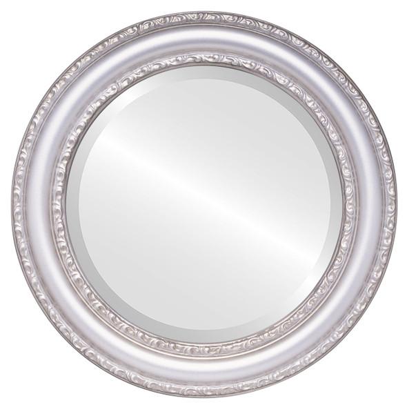 Beveled Mirror - Dorset Round Frame - Silver Shade