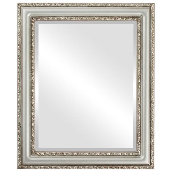 Beveled Mirror - Dorset Rectangle Frame - Silver Shade