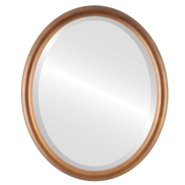 Pasadena Framed Oval Mirror - Sunset Gold