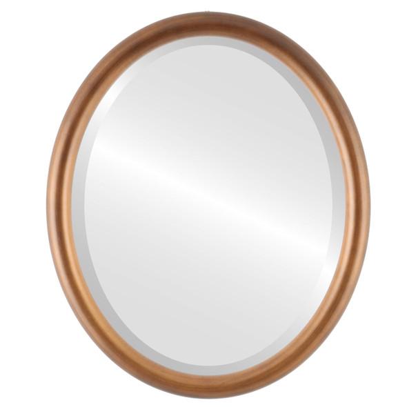 Bevelled Mirror - Pasadena Oval Frame - Sunset Gold