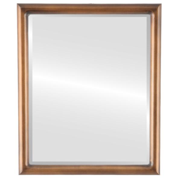 Bevelled Mirror - Pasadena Rectangle Frame - Sunset Gold