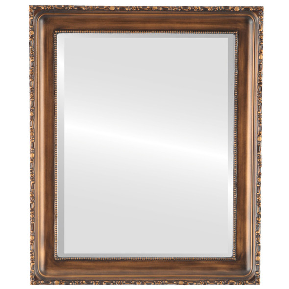 Beveled Mirror - Kensington Rectangle Frame - Sunset Gold