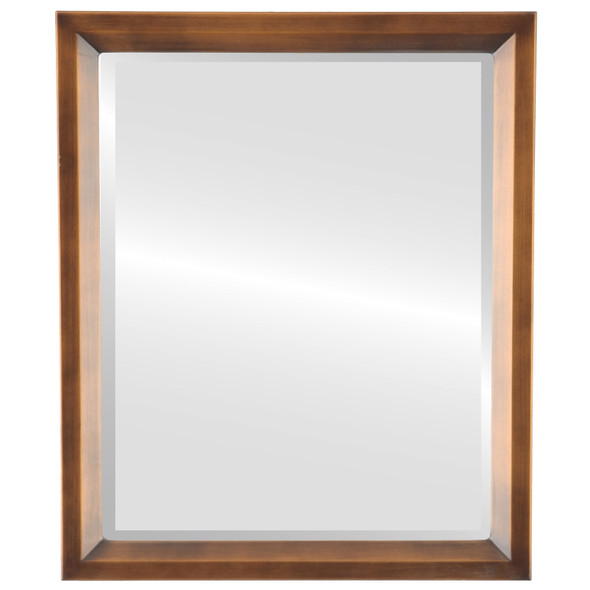 Bevelled Mirror - Huntington Rectangle Frame - Sunset Gold