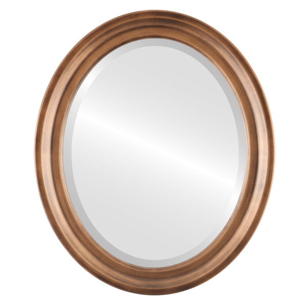 Beveled Mirror - Newport Oval Frame - Sunset Gold