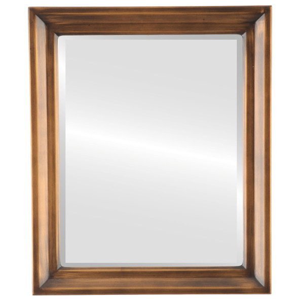 Beveled Mirror - Newport Rectangle Frame - Sunset Gold