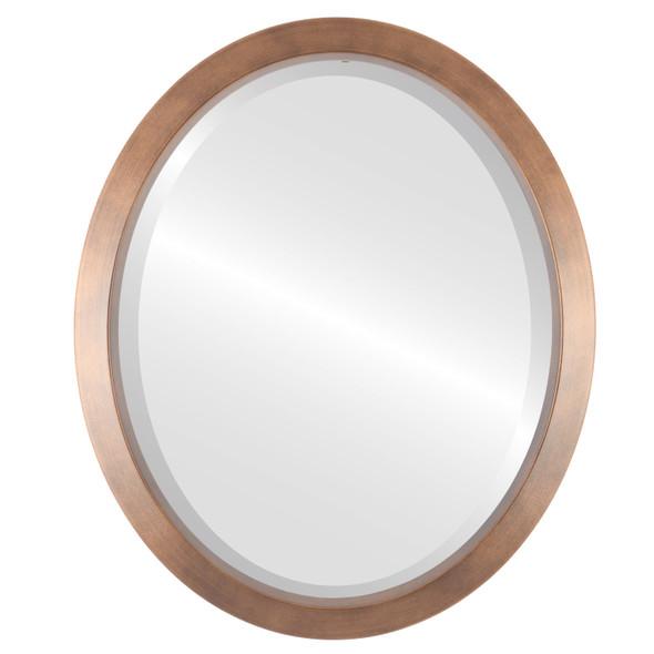 Bevelled Mirror - Regatta Oval Frame - Sunset Gold