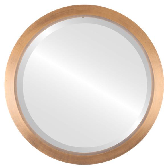 Beveled Mirror - Regatta Round Frame - Sunset Gold