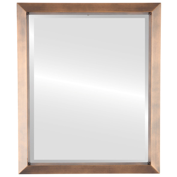 Beveled Mirror - Regatta Rectangle Frame - Sunset Gold