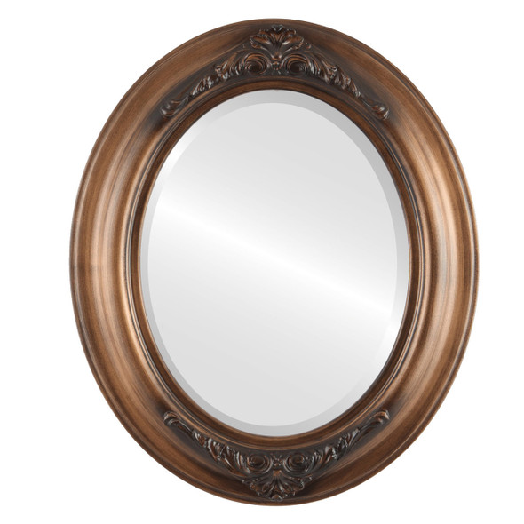Beveled Mirror - Winchester Oval Frame - Sunset Gold