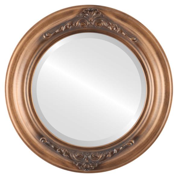 Beveled Mirror - Winchester Round Frame - Sunset Gold
