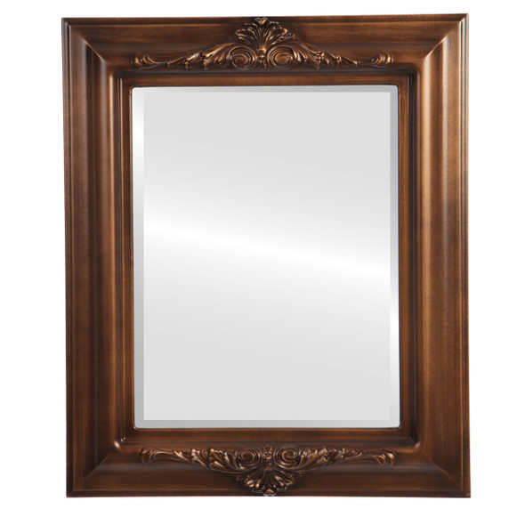 Beveled Mirror - Winchester Rectangle Frame - Sunset Gold