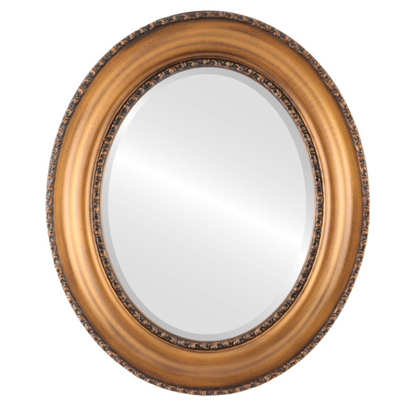Beveled Mirror - Somerset Oval Frame - Sunset Gold