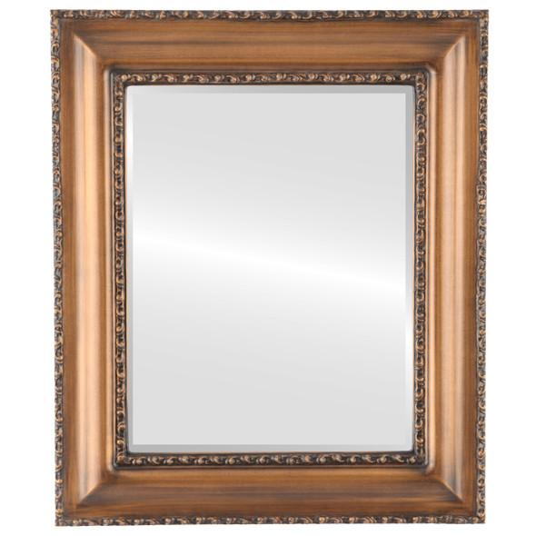 Beveled Mirror - Somerset Rectangle Frame - Sunset Gold