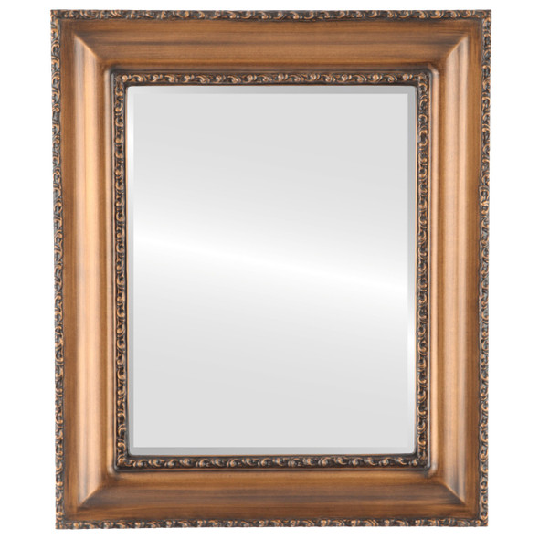 Beveled Mirror - Somerset Rectangle Frame - Sunset Gold