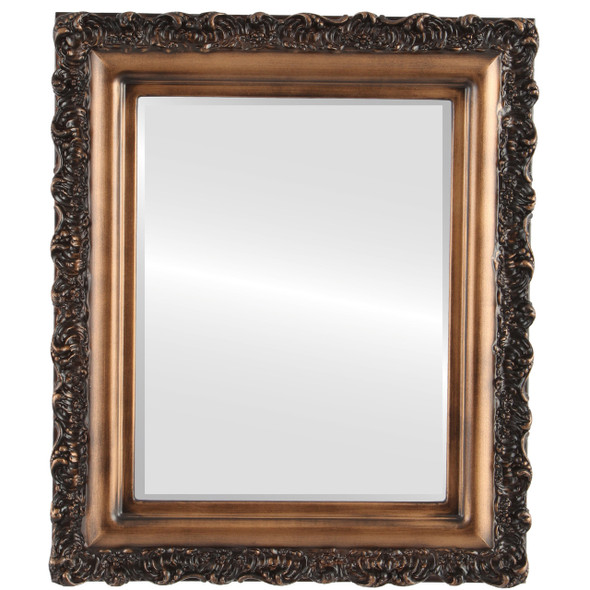 Beveled Mirror - Venice Rectangle Frame - Sunset Gold