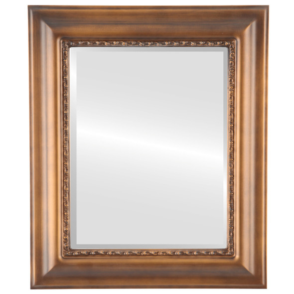 Beveled Mirror - Chicago Rectangle Frame - Sunset Gold