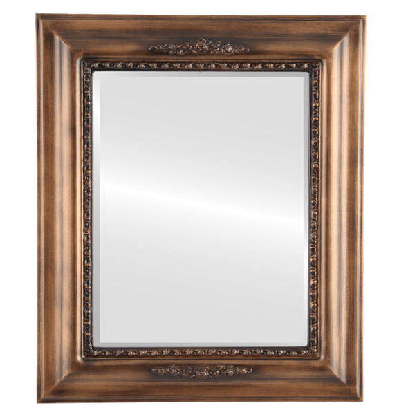 Beveled Mirror - Boston Rectangle Frame - Sunset Gold