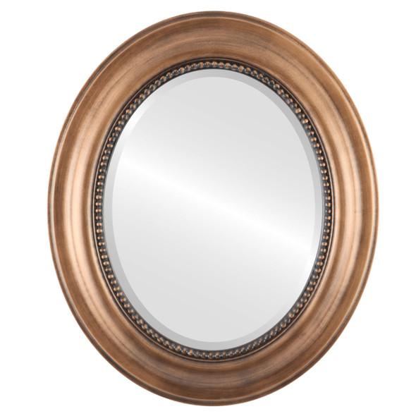 Beveled Mirror - Heritage Oval Frame - Sunset Gold