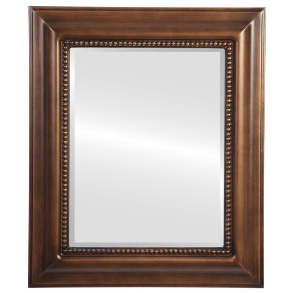 Beveled Mirror - Heritage Rectangle Frame - Sunset Gold