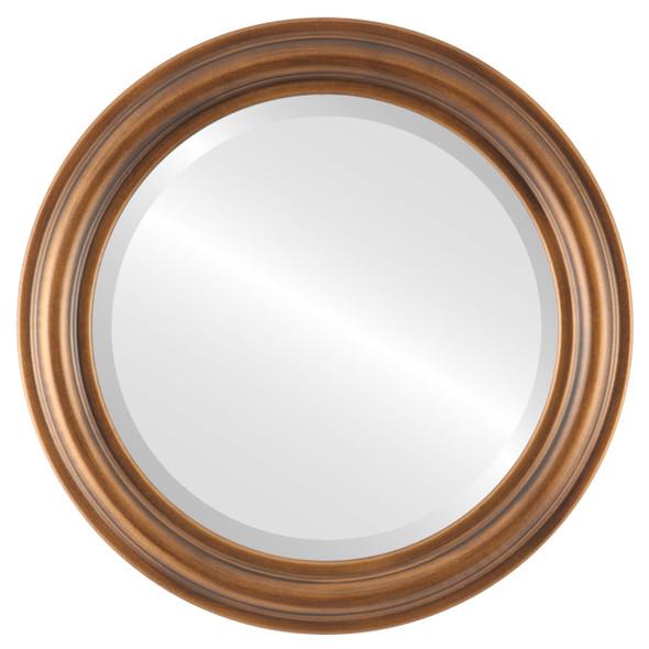 Beveled Mirror - Philadelphia Round Frame - Sunset Gold