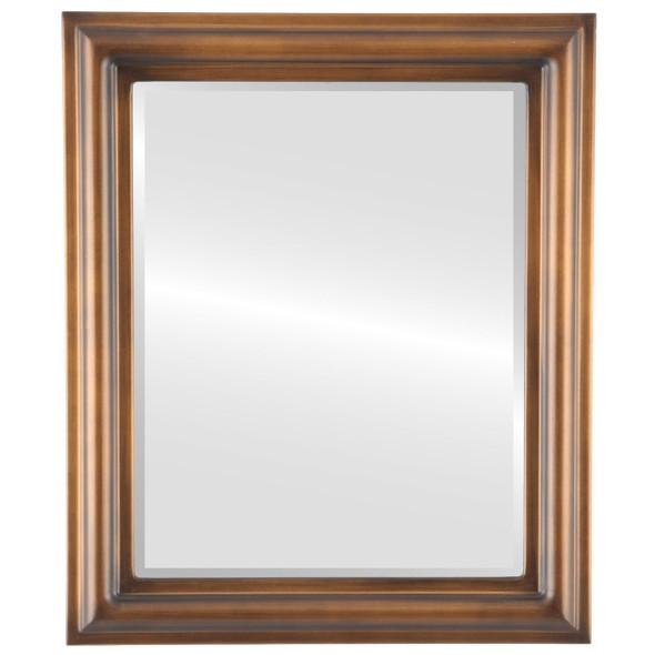 Beveled Mirror - Philadelphia Rectangle Frame - Sunset Gold