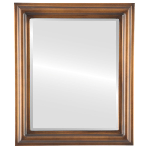 Beveled Mirror - Philadelphia Rectangle Frame - Sunset Gold
