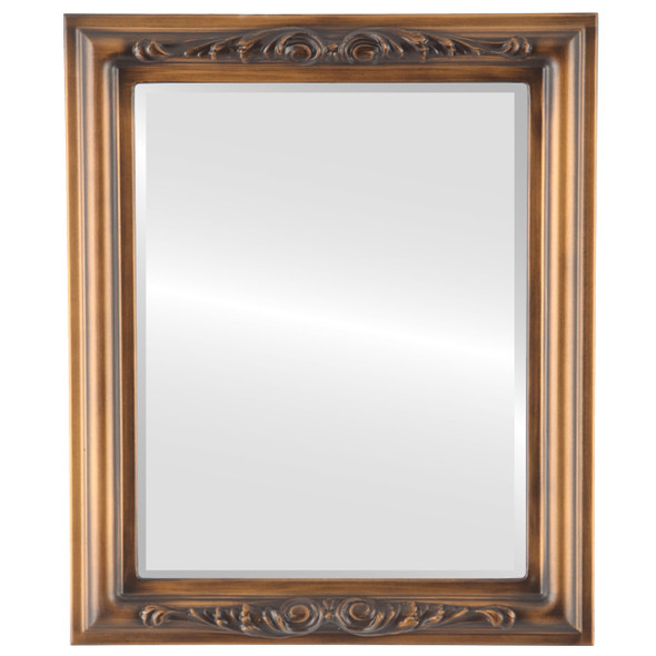 Beveled Mirrors - Florence Rectangle Frame - Sunset Gold