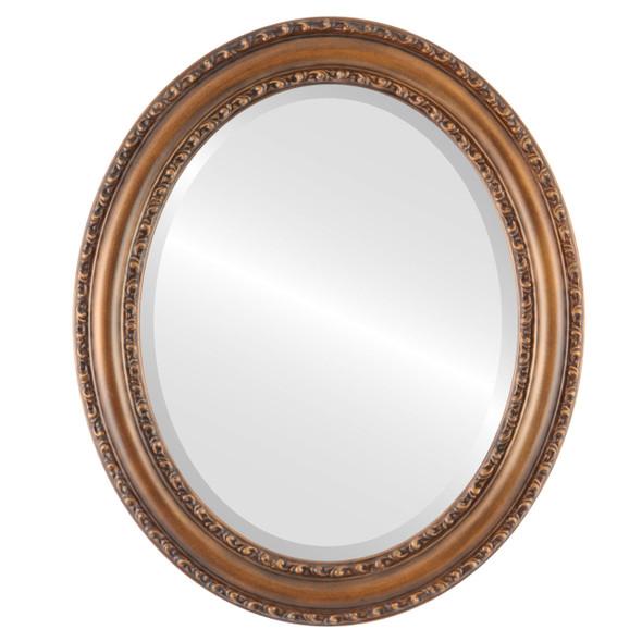 Beveled Mirror - Dorset Oval Frame - Sunset Gold