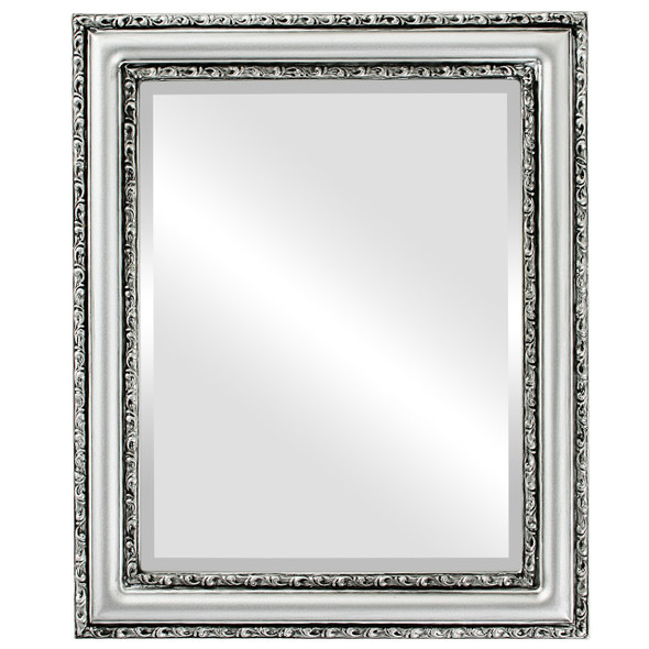 Beveled Mirror - Dorset Rectangle Frame - Silver Spray