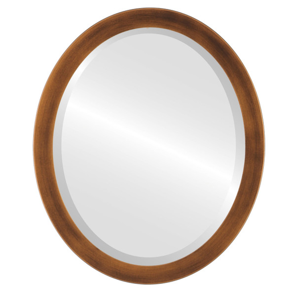 Beveled Mirror - Vienna Oval Frame - Sunset Gold