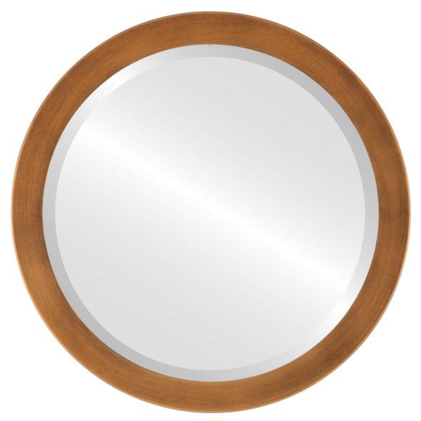 Beveled Mirror - Vienna Round Frame - Sunset Gold