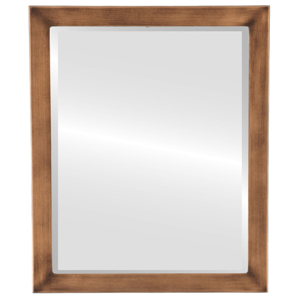 Beveled Mirror - Vienna Rectangle Frame - Sunset Gold