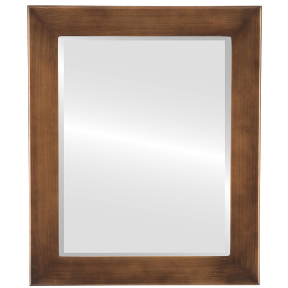 Beveled Mirror - Cafe Rectangle Frame - Sunset Gold