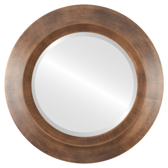 Beveled Mirror - Veneto Round Frame - Sunset Gold