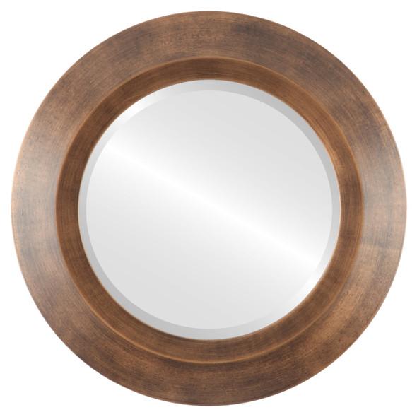 Beveled Mirror - Veneto Round Frame - Sunset Gold