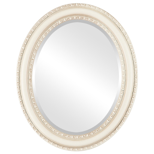 Beveled Mirror - Dorset Oval Frame - Taupe