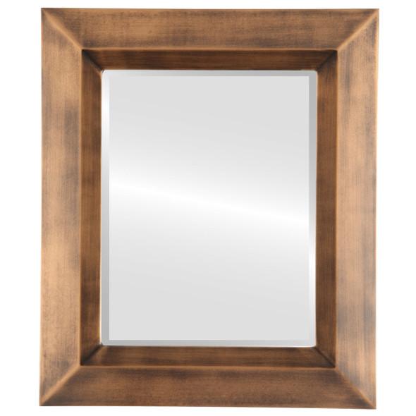 Beveled Mirror - Veneto Rectangle Frame - Sunset Gold