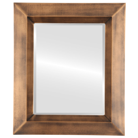 Beveled Mirror - Veneto Rectangle Frame - Sunset Gold